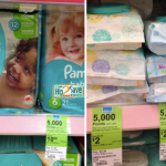 Pampers Baby Dry Jumbo Pack Diapers ONLY $6.49 + FREE Package of Baby Wipes!