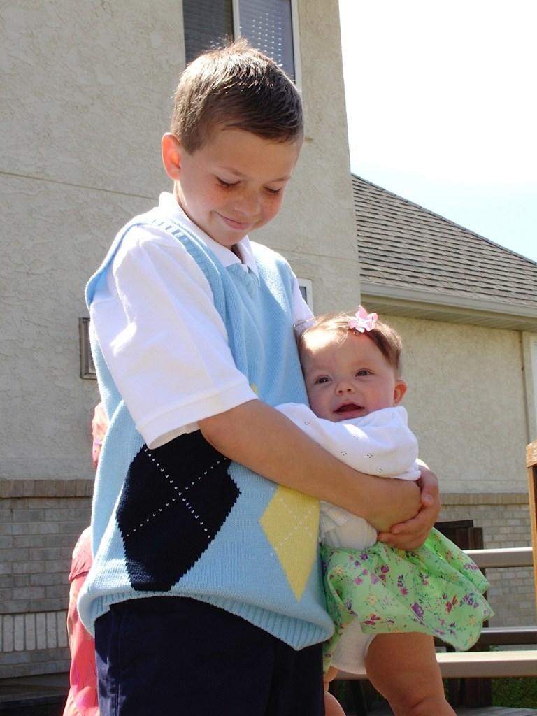 Nate and tiny Anna