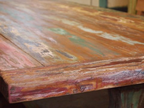 teak kloostertafel paint (2)