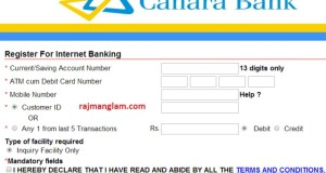 canarabank-new -registration