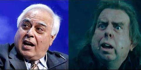 Kapil Sibal & Wormtail( Harry Potter Character)