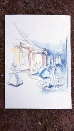 Mauga Houba-Hausherr zeichnete ihre Eindrücke vor Ort.