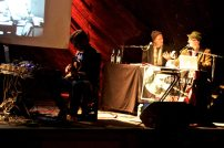 The Kanadagans begleiteten die Lesung mit drei Sets musikalisch
