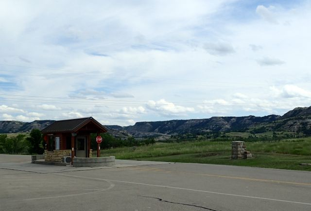 Entrance to Theodore Roosevelt National Park - North Unit in North Dakota