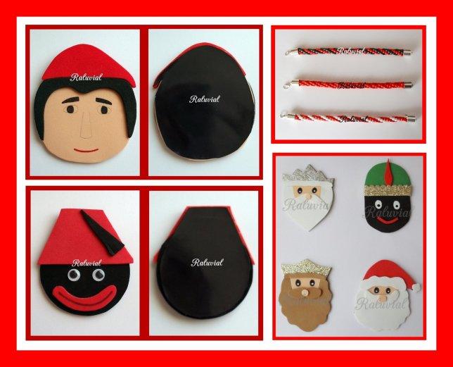 Imanes y pulseras de navidad 2017