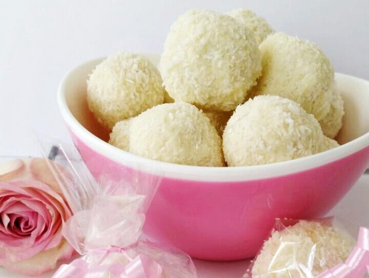 Zelfgemaakte Raffaello koekjes
