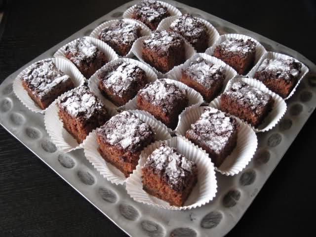 Brownies met courgette