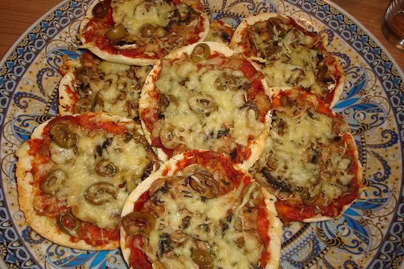 Vegetarische pita pizza