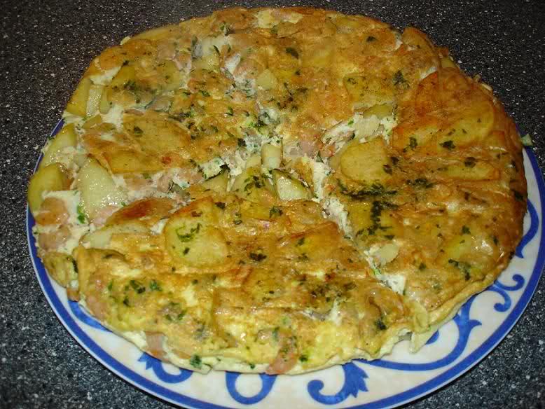 Tortilla met garnalen