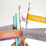 FREEBIE | Eid cupcake toppers / vlaggetjes voor rietjes