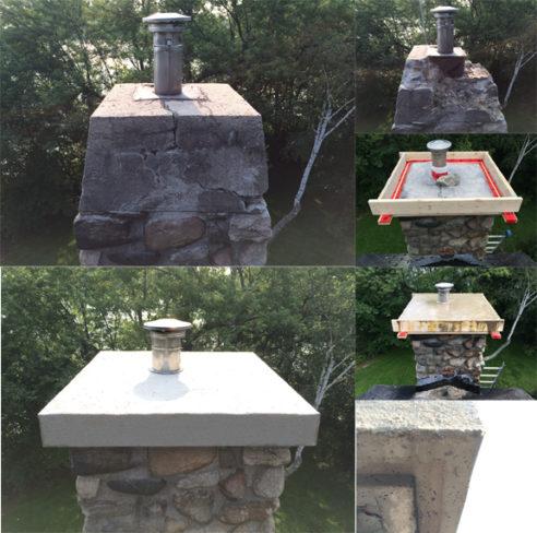 Remplacement d'une couronne de cheminée