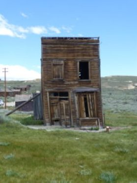 Old Leaning Hotel Sweazy, Bodie California