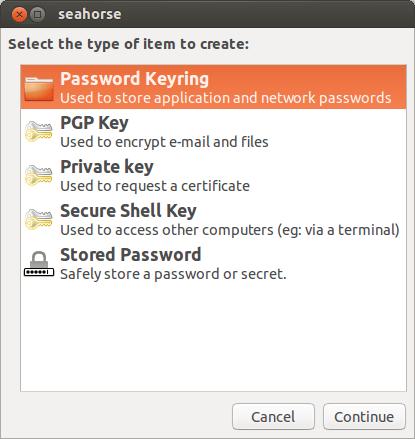 Adding a new ssh-key with seahorse on Ubuntu