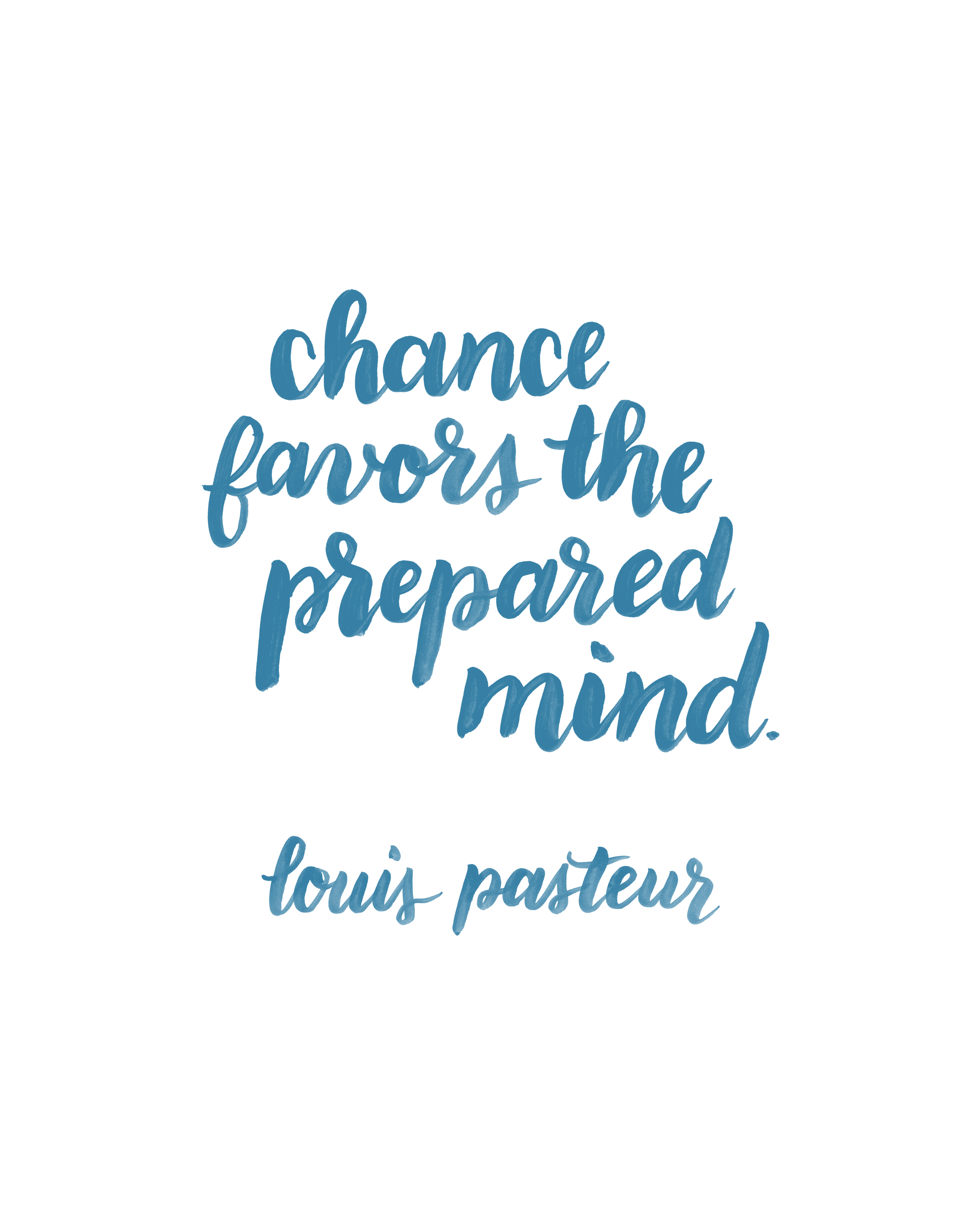 Chance Favors Prepared Mind