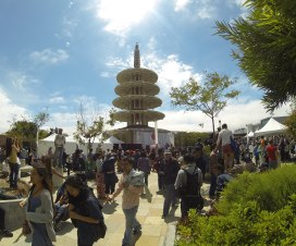 J-Pop Summit in front of the Peace Pagoda