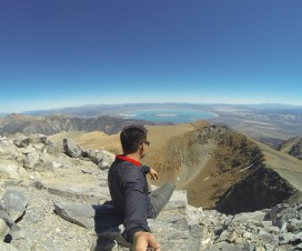 Overlooking Mono Lake from the summit of Mount Dana
