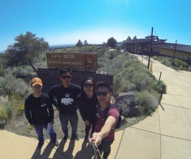 The caving crew at Lava Beds National Monument