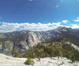 En route to Half Dome