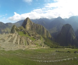The magnificent Machu Picchu on a beautiful day