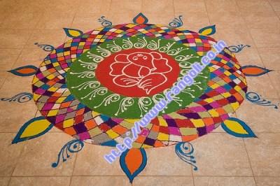 Peacock Rangoli Designs Flower Patterns Festival Rangoli