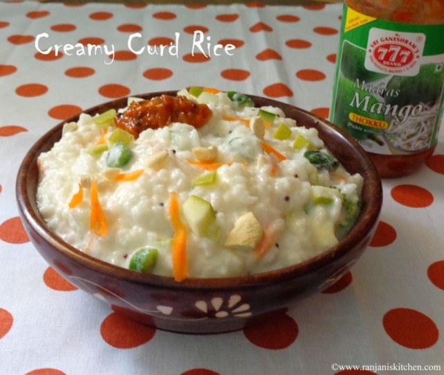 Creamy Curd Rice