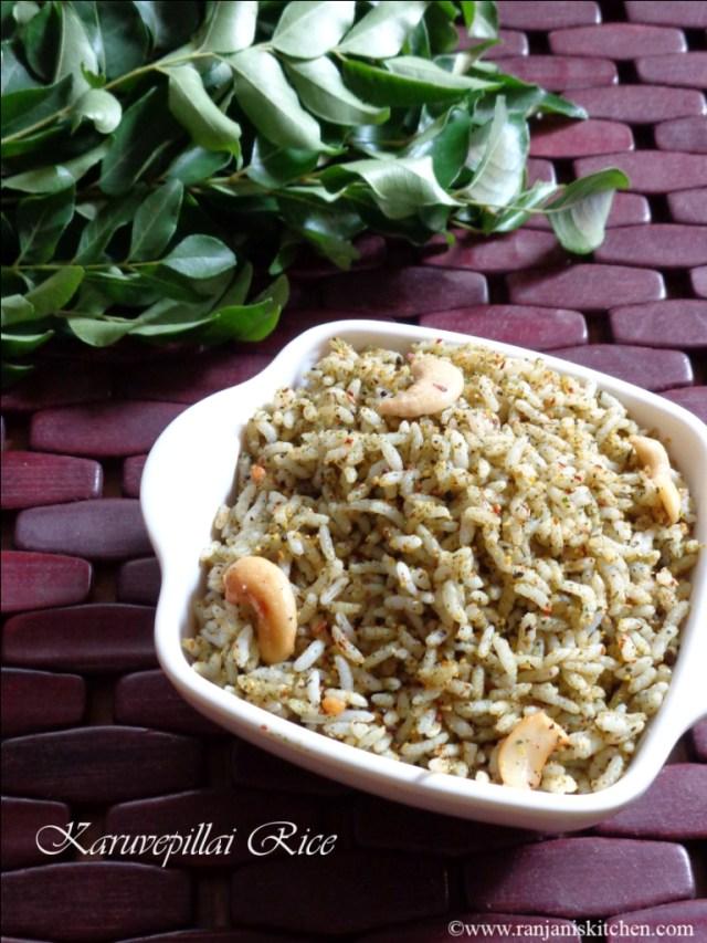 Karuvepillai rice