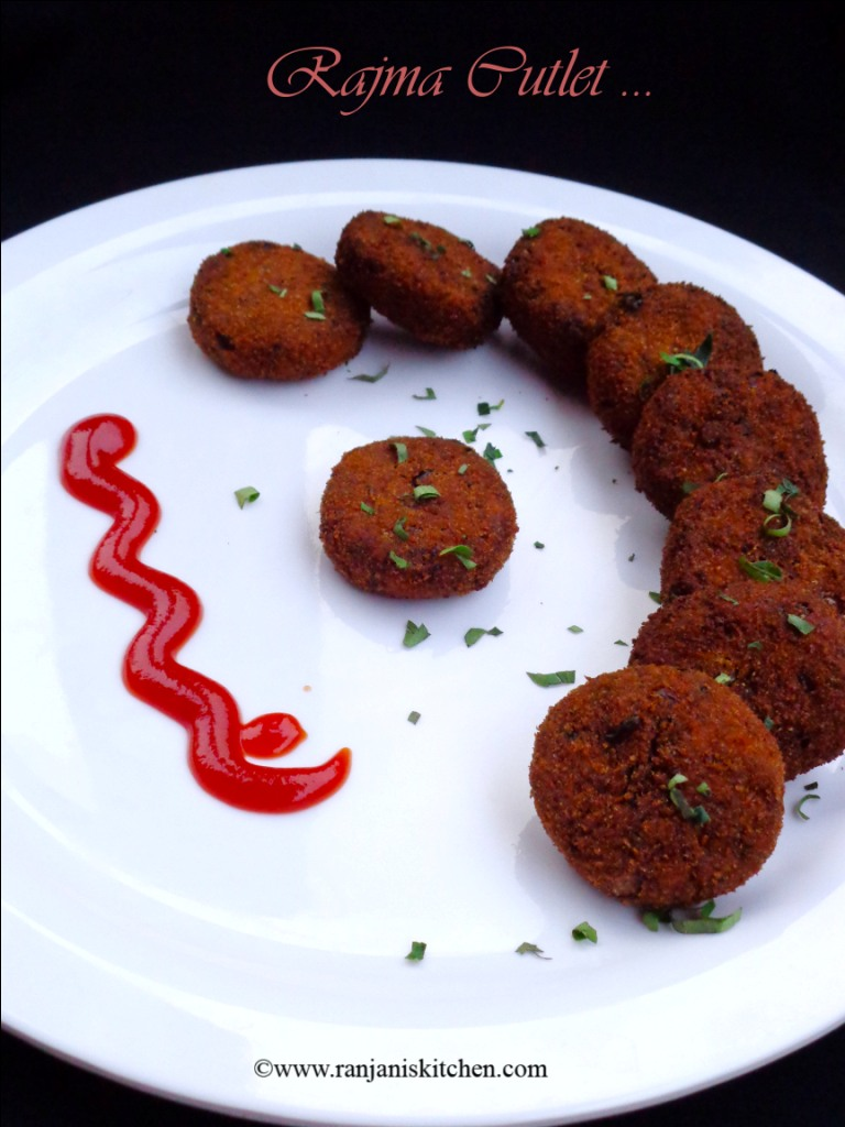 Cutlet Recipes - Rajma Cutlet