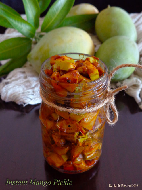 Instant mango Pickle | How to make instant mango pickle