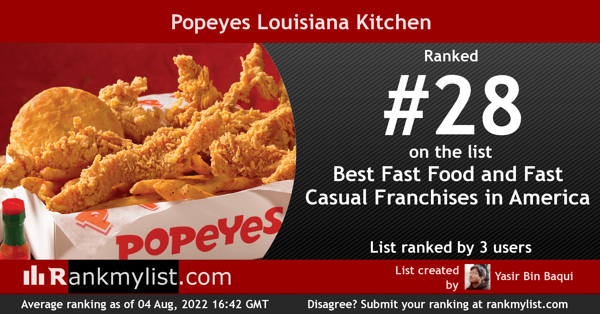 Fullsize Of Popeyes Menu Prices