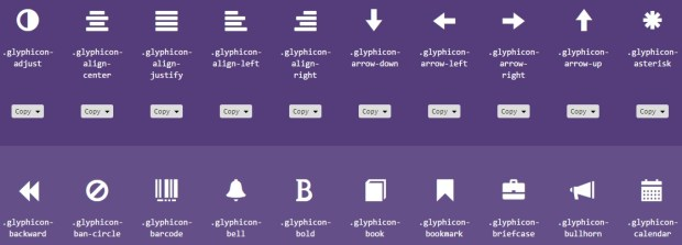 Bootstrap 3 Glyph icons