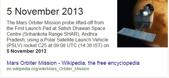 when mangalyaan was launched