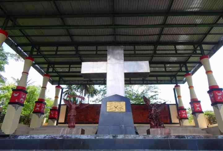 Lokasi yang diyakini sebagai tempat pendaratan dua misionaris Jerman di Mansinam