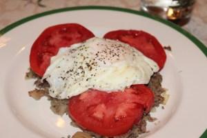 Prime Rib Hash with Tomato & Egg