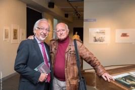 Raoul Servais, accompagné de Jacques Dubrulle, président de la fondation Raoul Servais.