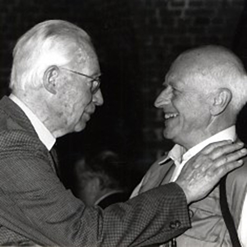 Raoul Servais and Henri Storck, at the left, film pioneer and also born in Ostend.