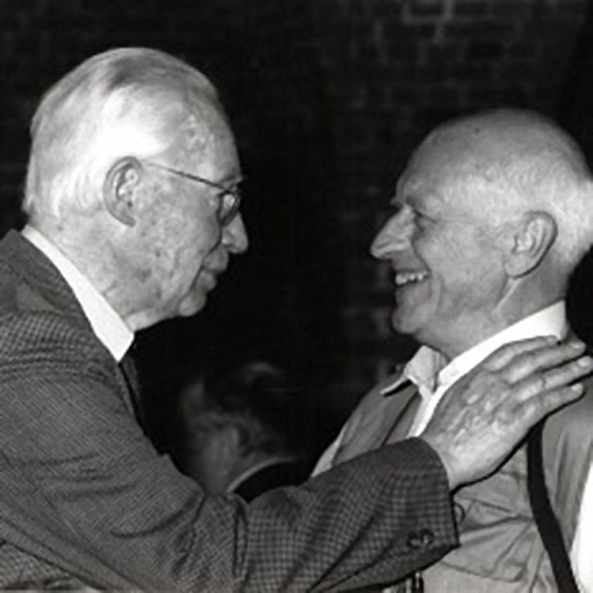 Raoul Servais avec Henri Storck (à gauche), cinéaste et aussi d'Ostende.