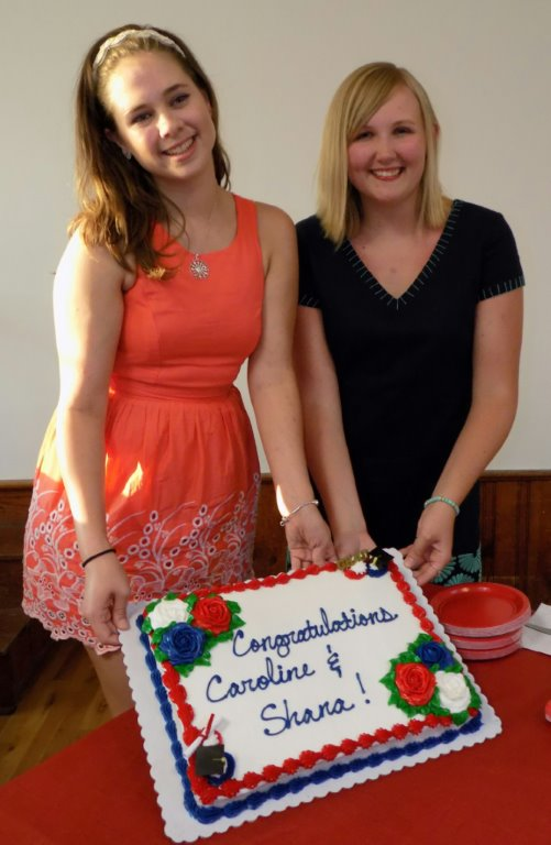 L-R Caroline Steimel, Shana McMeans (photo provided by Jefferson VA Ruritan Club)
