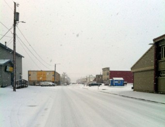I believe this is what serves as rush hour in northwest Alaska's largest town.