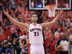 Thanking Greivis Vasquez for his Raptors role