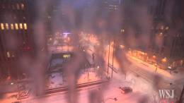 Timelapse of The Storm That Dumps Record Snow on New York City
