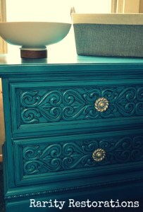 Custom Turquoise Painted Table