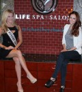 Miss Nevada USA Chelsea Caswell and Miss USA 2011 Alyssa Campanella at LifeSpa + Salon by Michael Boychuck