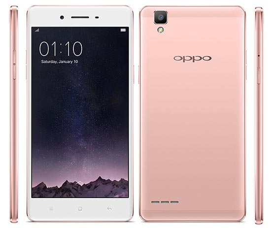 OPPO F1 Rose Gold edition