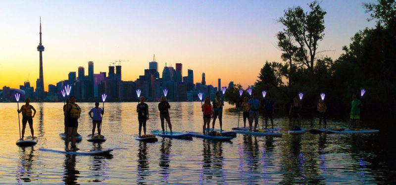 Torch SUP, Toronto skyscape - sunset, 09 Aug 2017
