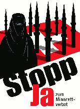 Swiss Poster in favour of Minaret ban