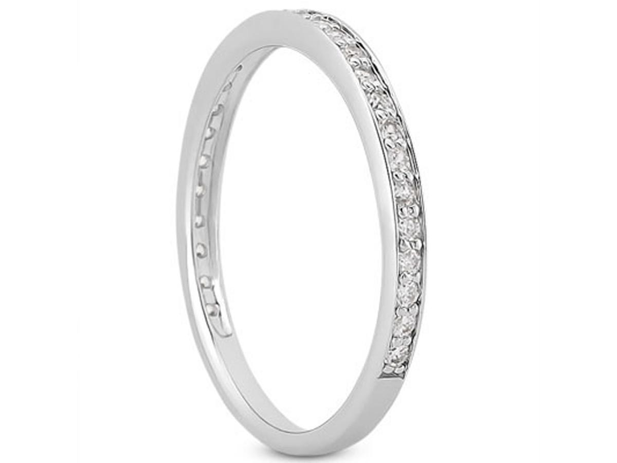 Diamond Micro pave Wedding Ring Band in 14K White Gold micro pave wedding band Diamond Micro pave Wedding Ring Band in 14K White Gold