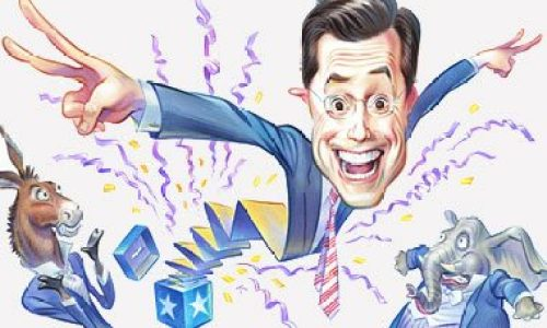 Stephen Colbert, art, democrats and republicans