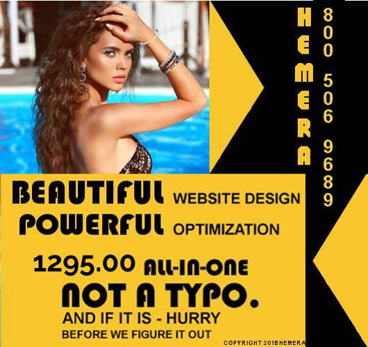 An Hemera Inc. Advertisement for SEO and website design for 1295.00