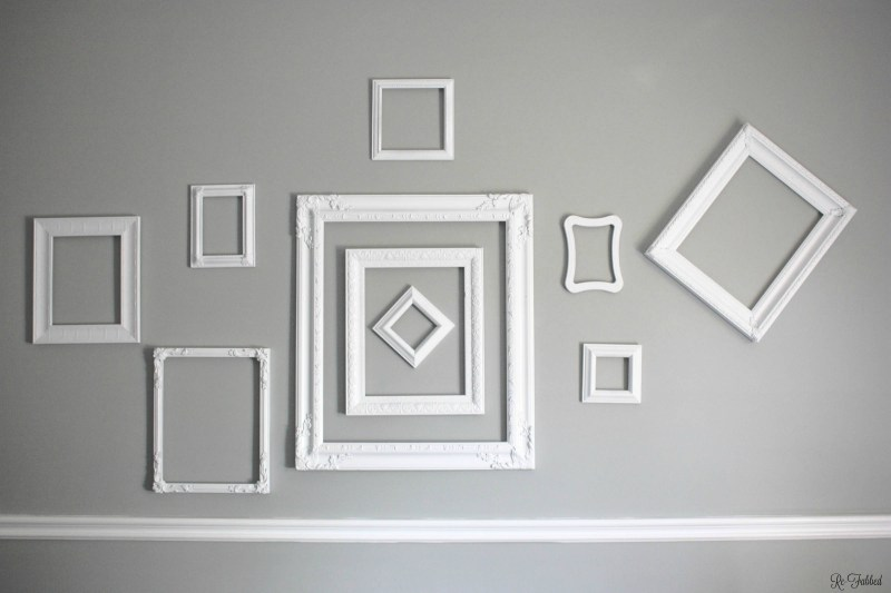 Pool Thrifted Frames To Cohesive Gallery Wall Random Thrift Store ...