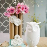 Paper Towel Roll Vases